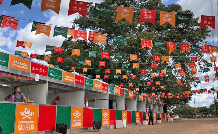 Adetuc montou estande para exposição e venda de artesanato em capim dourado - Foto: Flávio Cavalera/Governo do Tocantins